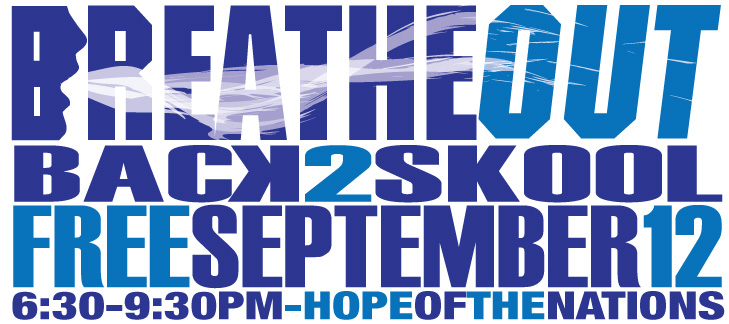 Breathe Out | September 12 - 6:30-9:30pm - Hope of the Nations, Reading Pa - FREE